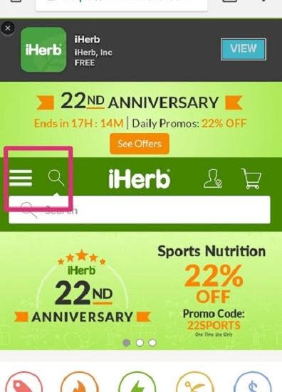iHerb日本語表示方法モバイル2