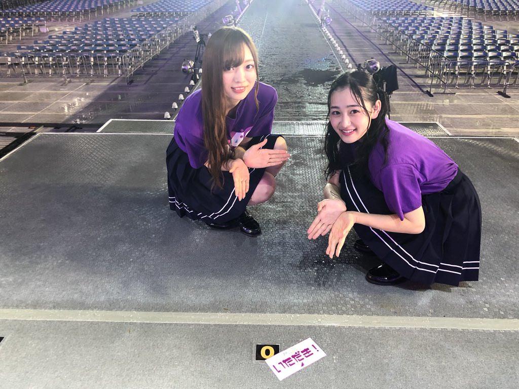 乃木坂46「全ツ2018いただき!キャンペーン」 ライブステージ上マット2