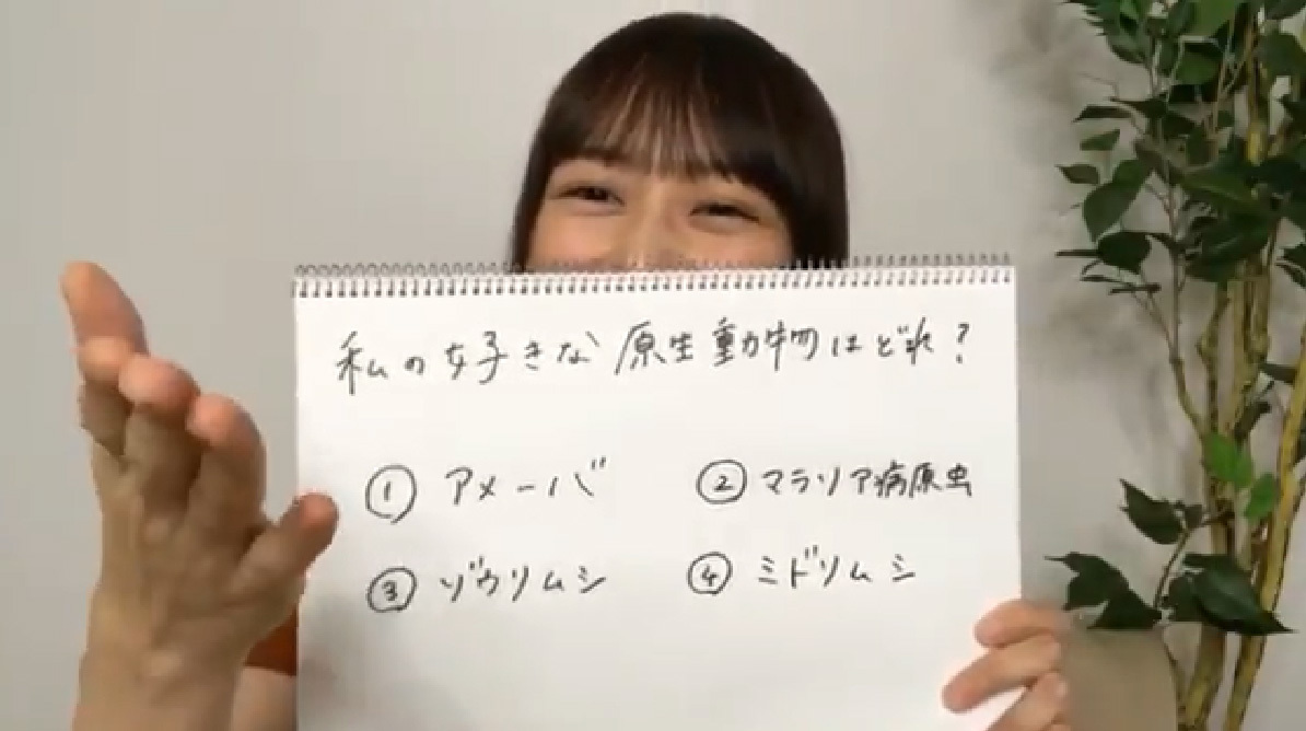 鈴木絢音「のぎおび⊿」「私の好きな原生動物はどれ?」