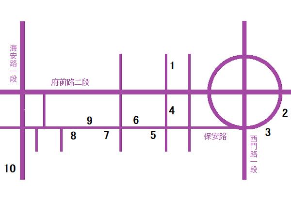 台南小吃地図1