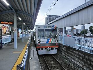静岡鉄道 柚木駅を発車する1001F