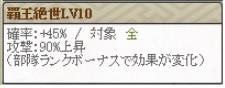 覇王絶世Lv10 部隊ランク24