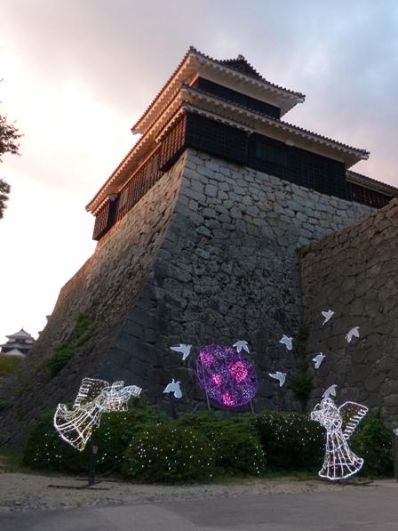 光のおもてなし in 松山城 3