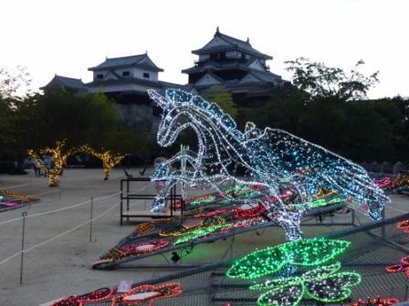 光のおもてなし in 松山城 5