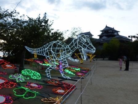 光のおもてなし in 松山城 6