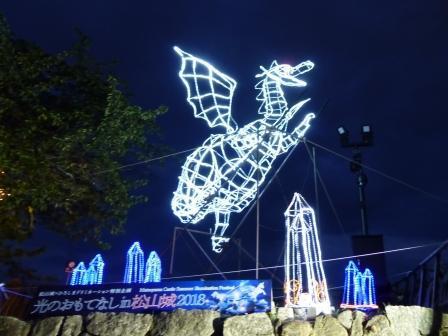 光のおもてなし in 松山城 14