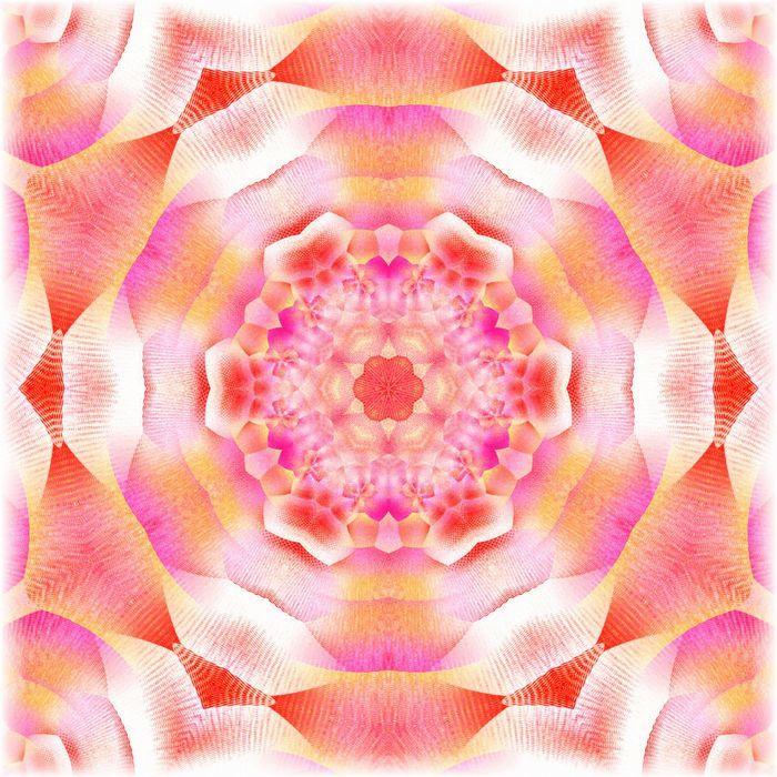 カレイドスコープオレンジ&ピンク_mirror4_rgbの度合いフェードアウトリサイズ