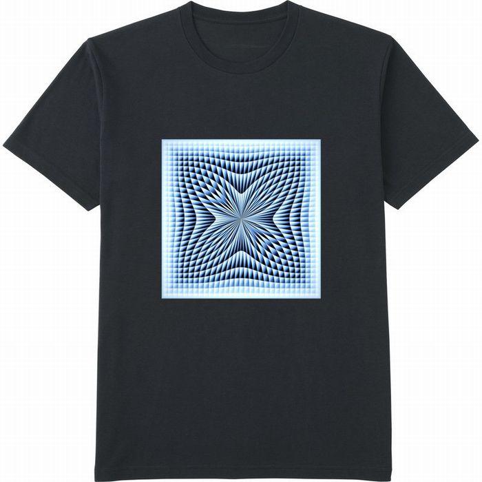 ブラインドチェックつまむ180117 (3)コントラスト‗Tシャツドライカラークルーネックネイビー