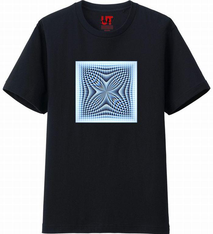 ブラインドチェックつまむ180117 (3)コントラスト‗Tシャツベーシック黒