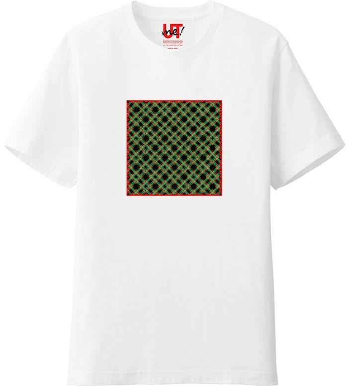 チェック333ヒストグラム_エッジの光彩_エンベロープ‗Tシャツベーシック白