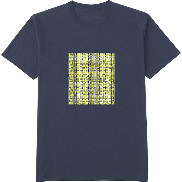 ポップアート_processed_01Tシャツドライカラークルーネック紺
