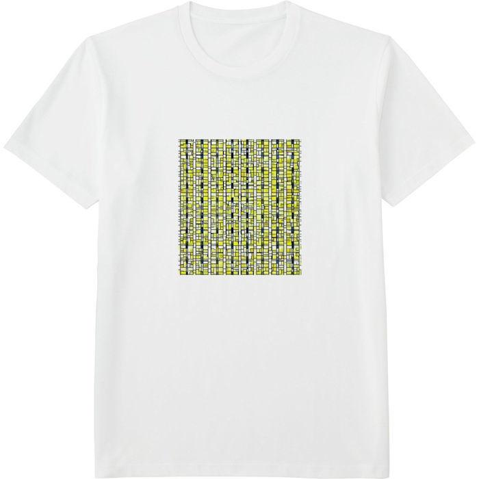 ポップアート_processed_01Tシャツドライカラークルーネック白