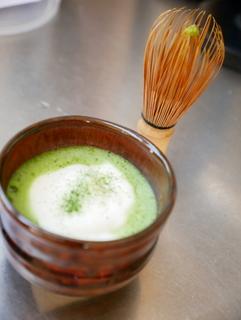 Matcha-latte & chasen