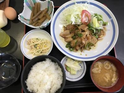 生姜焼き定食(ごはんオープン)