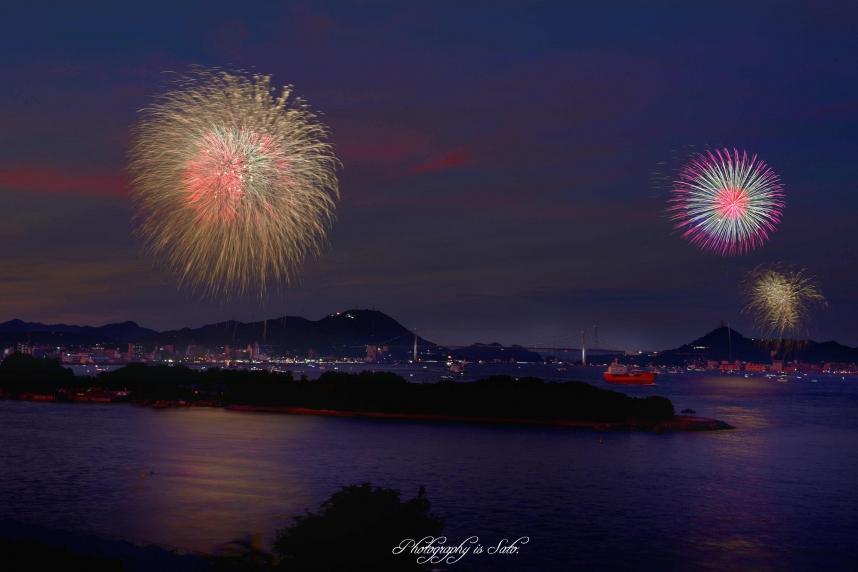 関門海峡花火大会003psJT