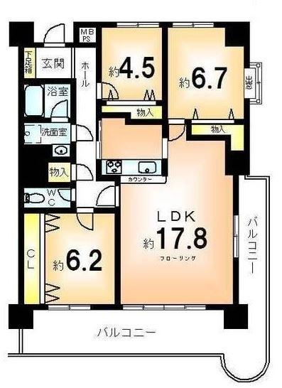 1750 ダイヤパレスロイヤル京都桂 511号室 84.63(センチュリー21三和不)