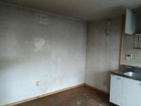 汚れが取れていない壁
