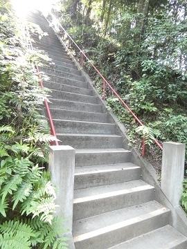17-1秩父御嶽神社最後の階段