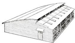 農業養鶏の鶏舎