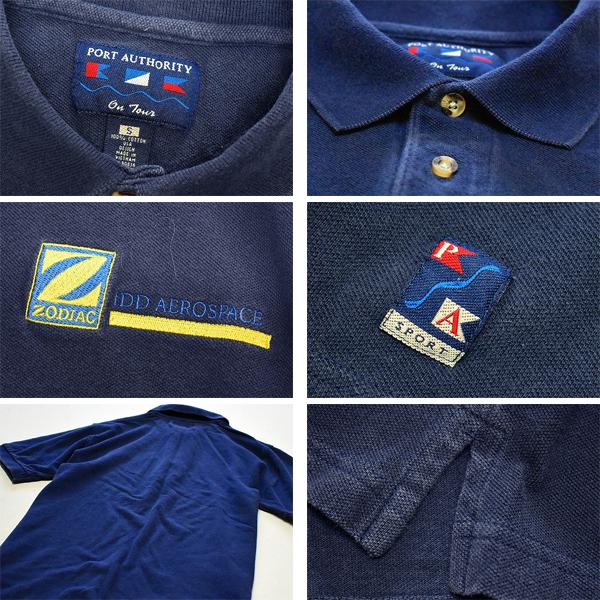 ノベルティーUSA企業物USED半袖ポロシャツ非売品メンズレディースコーデ@古着屋カチカチ