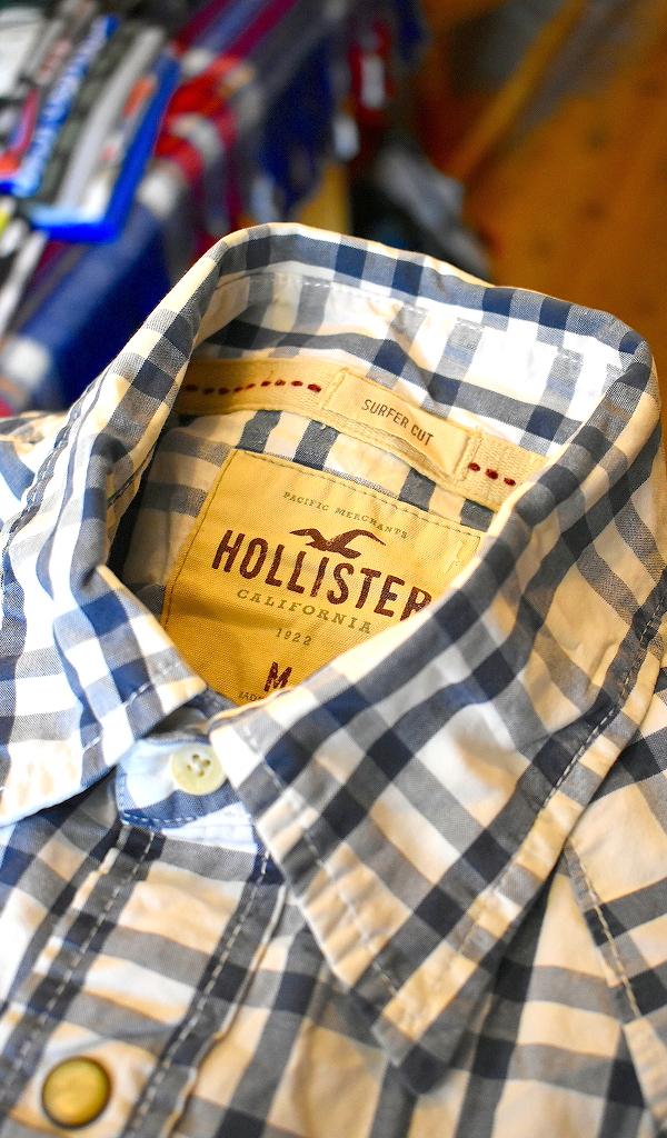 ホリスターHOLLISTER長袖チェックシャツ画像アメカジコーデレディースOK@古着屋カチカチ06