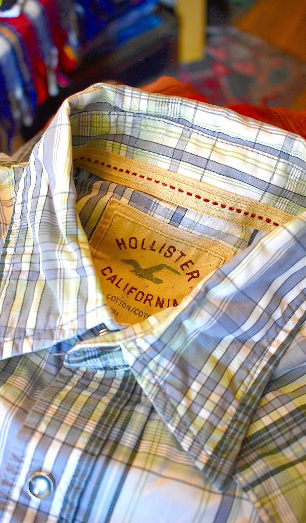 ホリスターHOLLISTER長袖チェックシャツ画像アメカジコーデレディースOK@古着屋カチカチ09