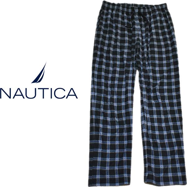 ノーティカNauticaパジャマパンツ画像フリースチェックパンツ@古着屋カチカチ