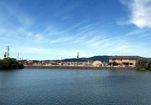 180817秋篠川から東方面