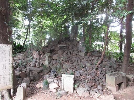 島根氷川神社富士塚