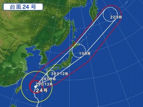 【競馬板】台風の進路予想見ると日曜の阪神開催は無理だなwwwww中山も午後はやばいぞwwww