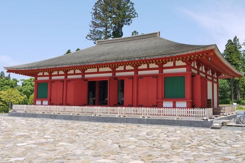 慧日寺・再興金堂~2008年再興復元