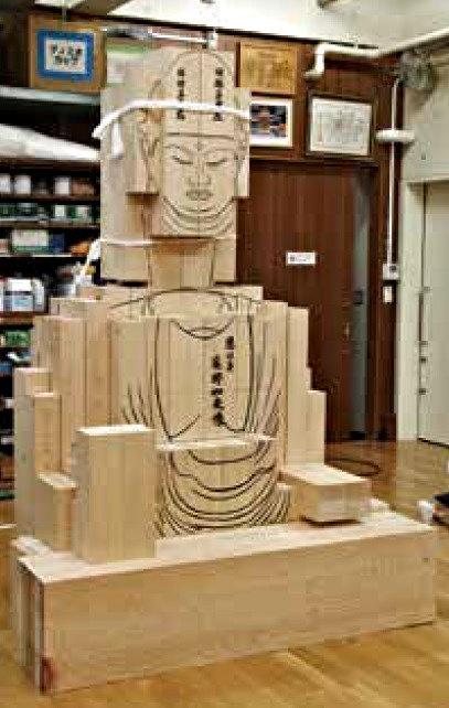 材木が仮組された復元像