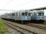 弘南鉄道7000系 7011&7105 黒石駅にて