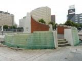 JR帯広駅 グッドデザイン賞受賞の噴水