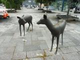 JR帯広駅 鹿の銅像