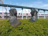 JR高萩駅 ハーモニーパークのモニュメント