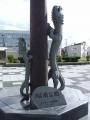 JR当麻駅 竜の時計・照明塔 アップ