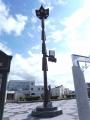 JR当麻駅 竜の時計・照明塔
