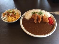 芝浦 湾岸食堂 鶏唐揚ので自家製カレー