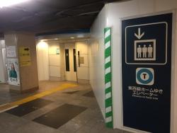 茅場町 日本橋 地下通路 東西線ホーム行きエレベーター 2018年10月