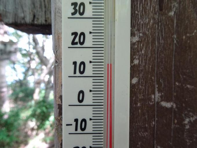 山頂の気温は15℃