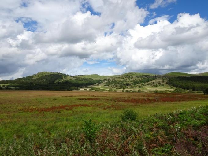 湿原とゼブラ山から北の耳、南の耳
