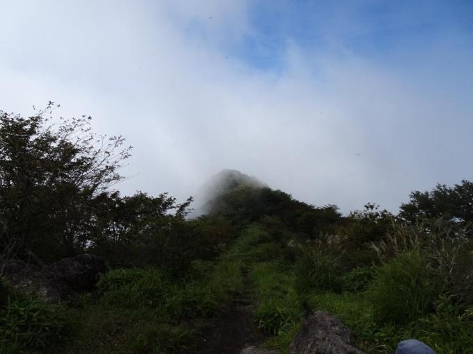 竈山から鍋割山