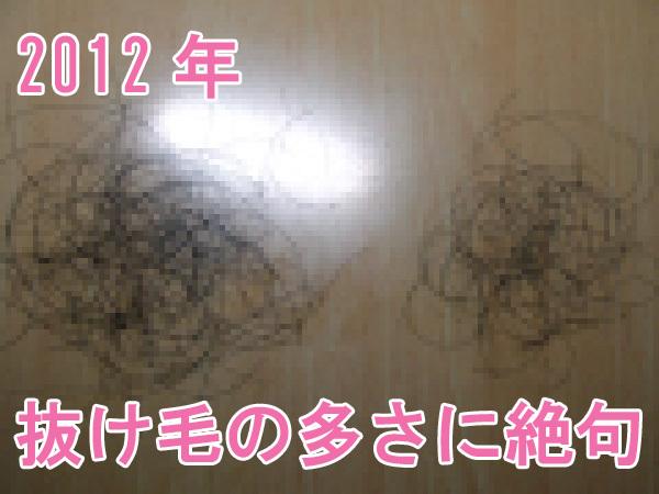 洗髪時の抜け毛