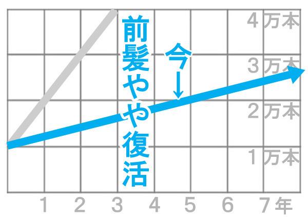 ハゲのグラフ