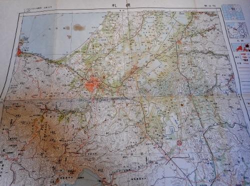 20万分の1地製図「札幌」1954年