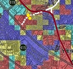 札幌市液状化危険度図 里塚トリミング
