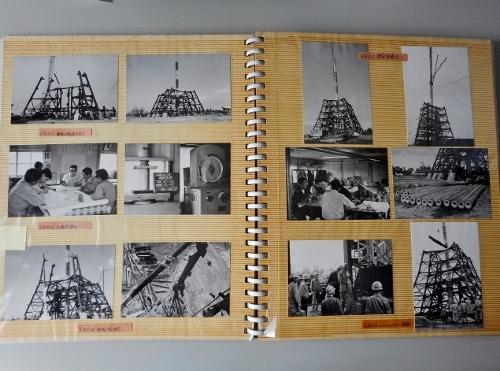 北海道百年記念塔 建設工事アルバム 1969年
