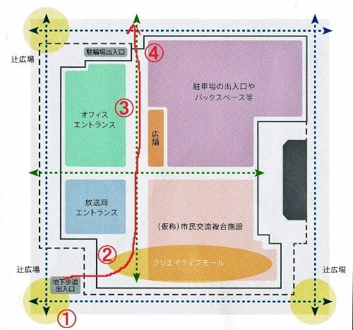 創世スクエア 1階平面図 パサージュ動線