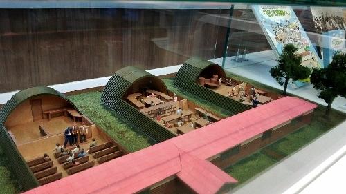 中島児童会館 資料室 カマボコ兵舎模型
